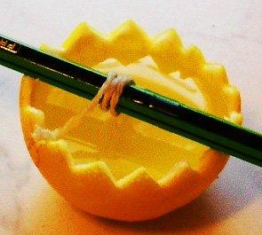 аромасвеча своими руками в апельсиновой кожуре