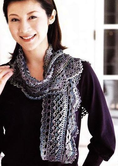как связать ажурный шарф или палантин, теплый и красивый, своими руками. Идеи и схемы.